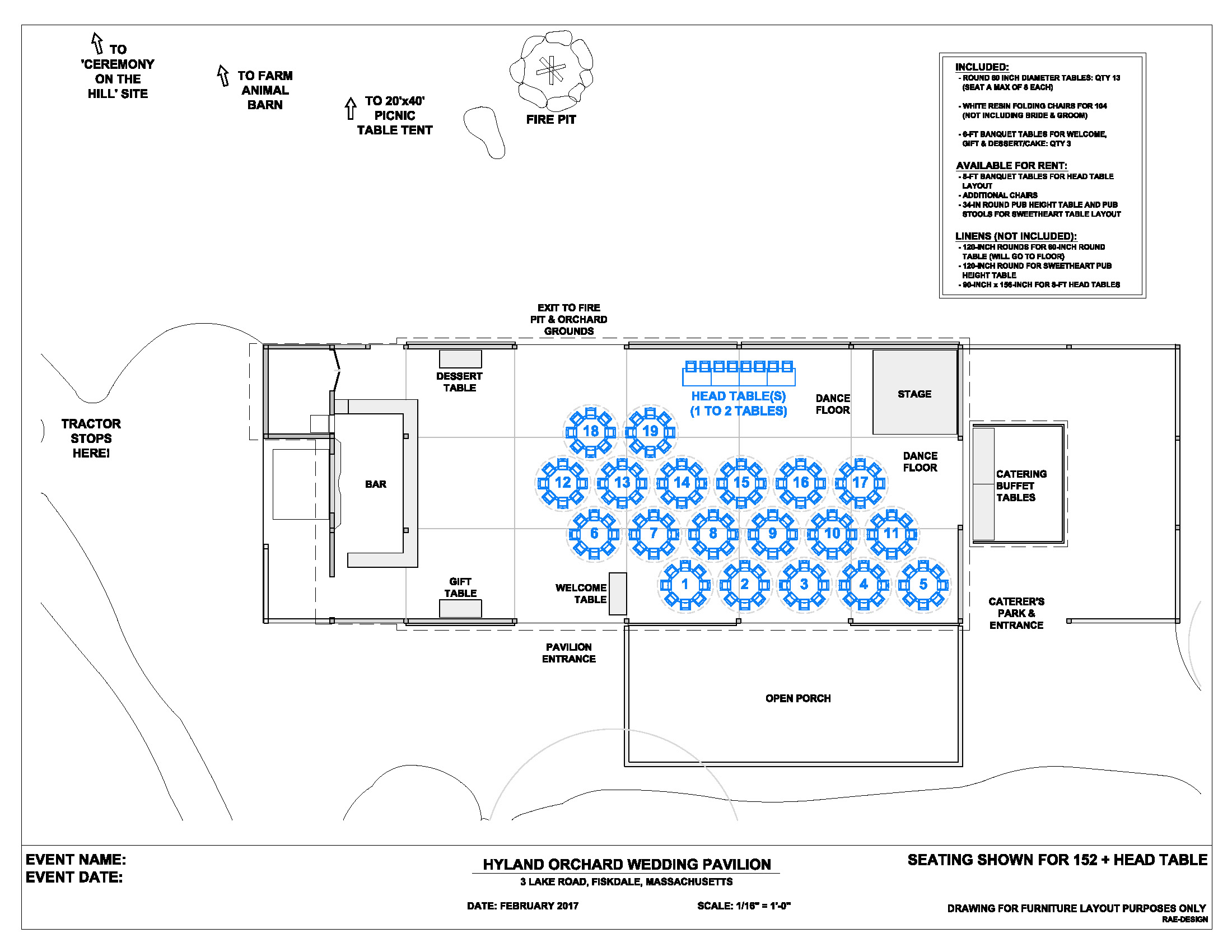 Wedding floor plans hyland orchard brewery for Wedding floor plan